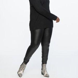 Eloquii Faux Leather Leggings Black Brand NEW